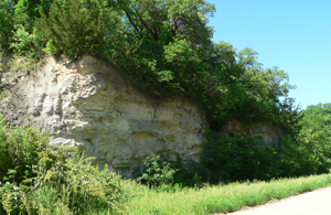 Chalk Cliffs near the Republican River, 1 mile south of Red Cloud